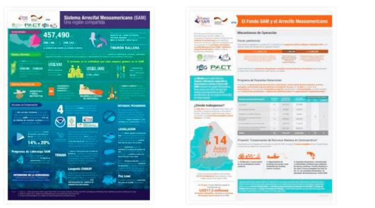 Infografía del Arrecife Mesoamericano
